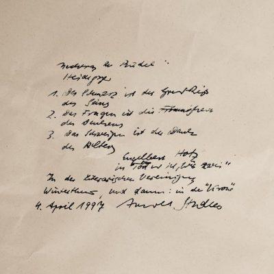 Arnold Stadler, 4.4.1997