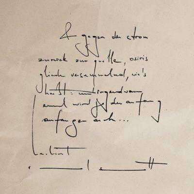 Raoul Schrott, 7.11.2002